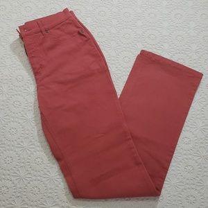 Talbots Russet Rose Jeans, Sz 6 Tall
